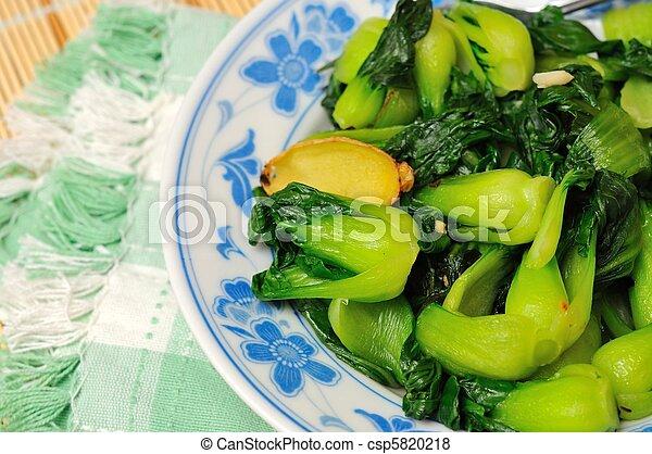 Freshly cooked vegetarian delicacy - csp5820218