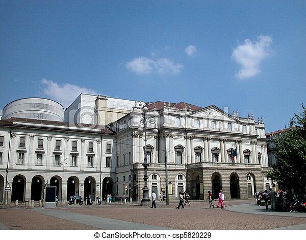 Scala theater in Milan - csp5820229