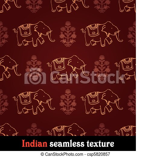 pattern indian elephant - csp5820857