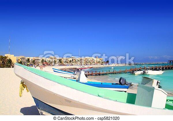 playa del Carmen mexico Mayan Riviera beach - csp5821020