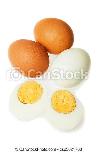 Hard boiled eggs - csp5821768