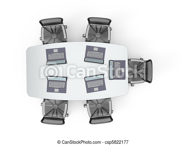 Conference Table Icon Conference Table With Laptops