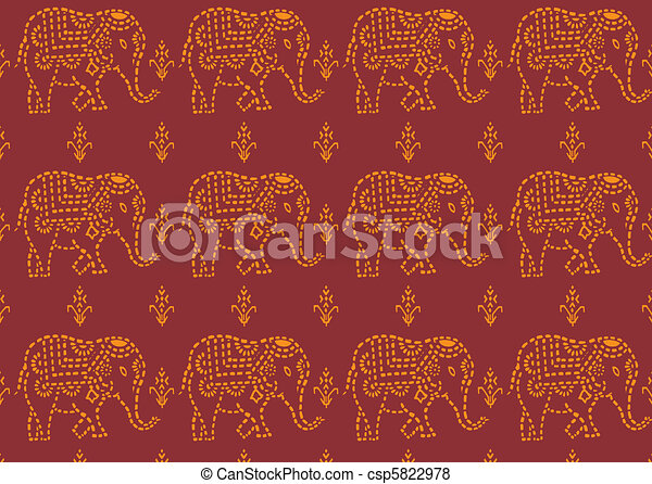 pattern indian elephant - csp5822978