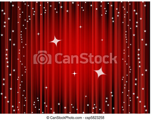 Theater curtain background  - csp5823258
