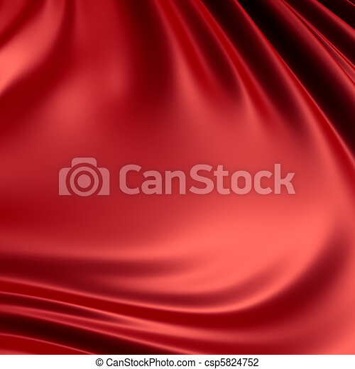 Red creased cloth / material. Clean, detailed render. Backgrounds series. - csp5824752