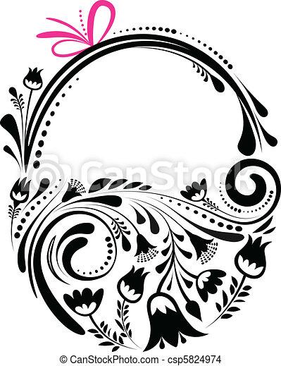 Retro Easter basket - csp5824974