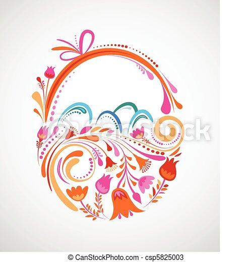 Floral Easter basket - csp5825003