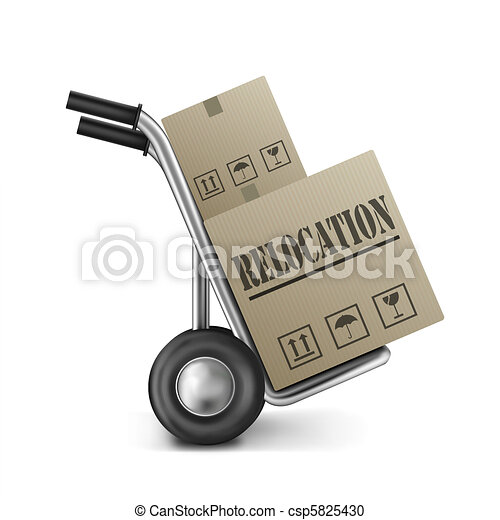 relocation cardboard box - csp5825430