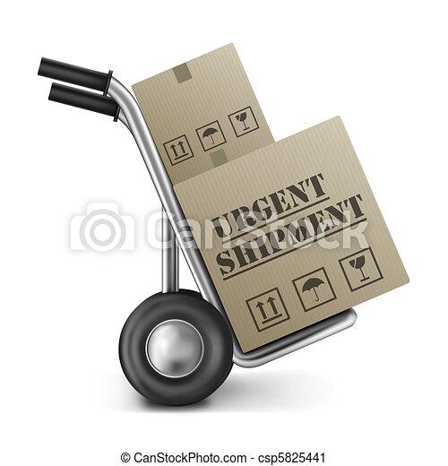 urgent shipping cardboard box hand truck - csp5825441