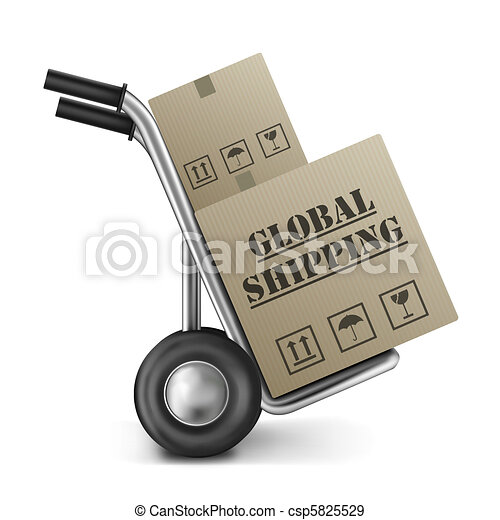 global shipping international trade - csp5825529