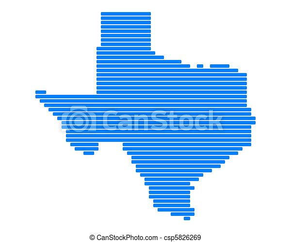 Map of Texas - csp5826269