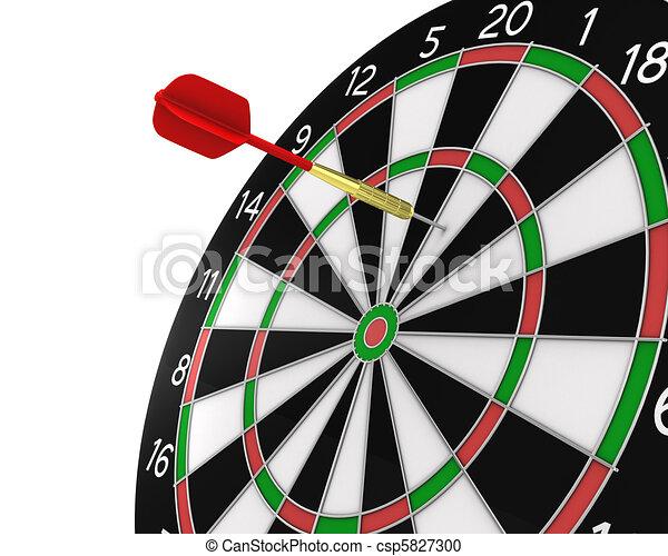 Dart missed the center - csp5827300
