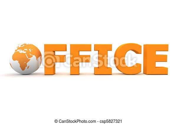 Office World Orange - csp5827321