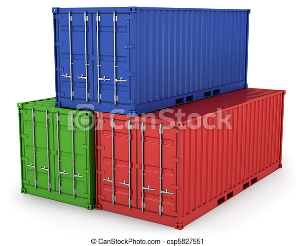 Three freight containers - csp5827551