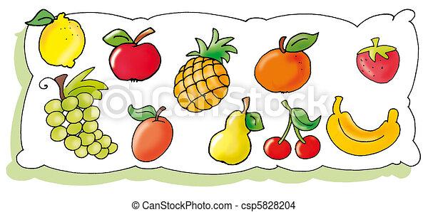 fruta, Mostrar - csp5828204