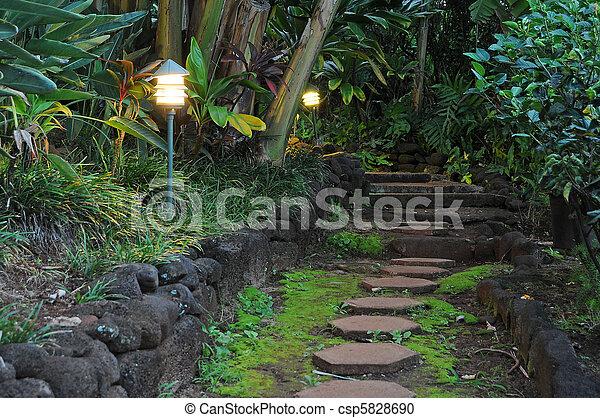 Pathway Stones in a Garden - csp5828690