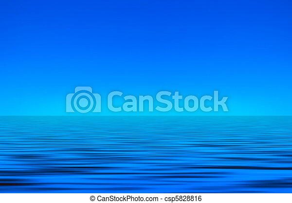 Sky and sea background - csp5828816