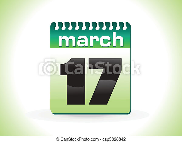 abstract st patrick calender vector - csp5828842