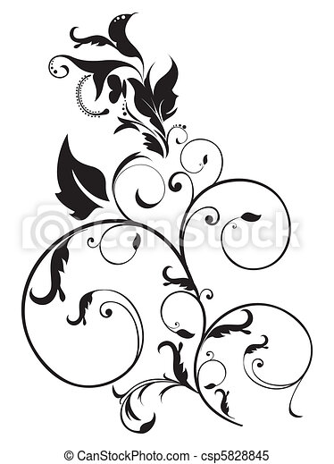 abstract artistic floral - csp5828845