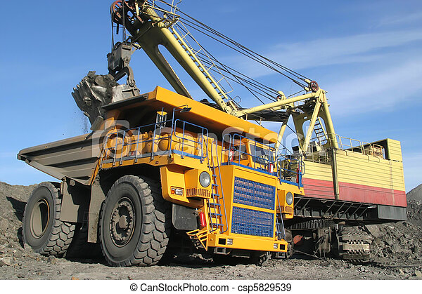 big yellow mining truck - csp5829539