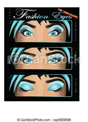 beautiful cyan female eyes - csp5829566