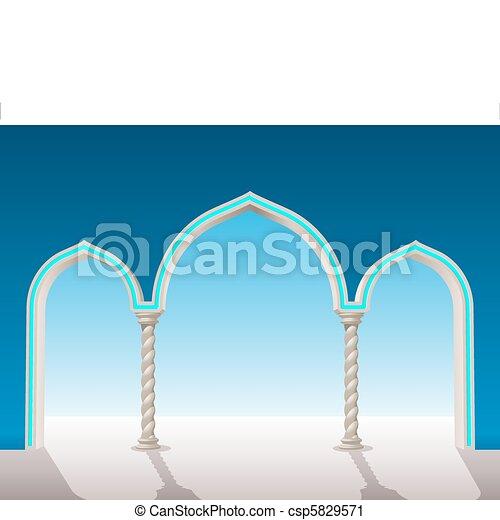 oriental gypsum archway - csp5829571