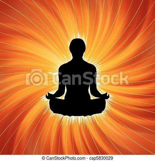 Power of Yoga - Meditation. EPS 8 - csp5830029