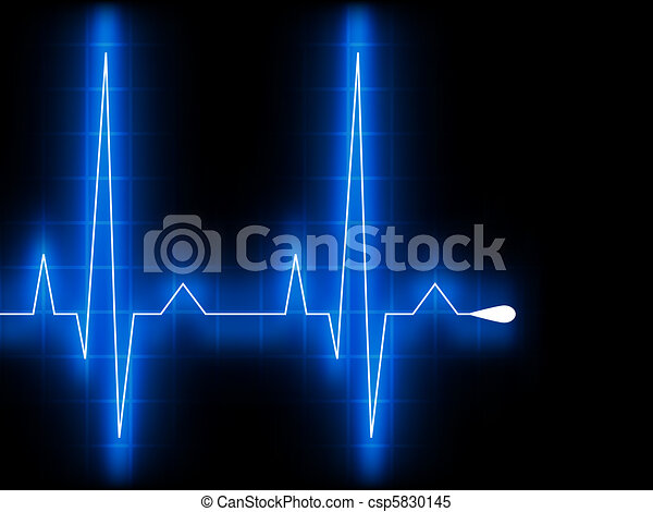 Blue heart beat. Ekg graph. EPS 8 - csp5830145