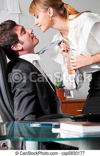 flirting at work - csp5830177
