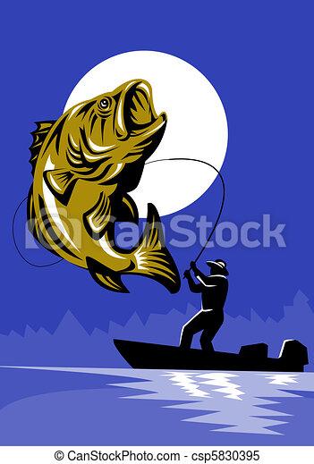 Largemouth Bass Fish Fishing - csp5830395
