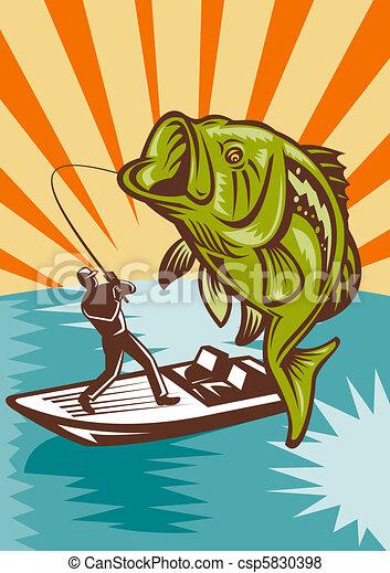 Largemouth Bass Fish Fishing - csp5830398