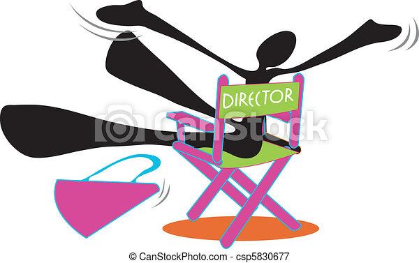 Shadow man director be happy - csp5830677