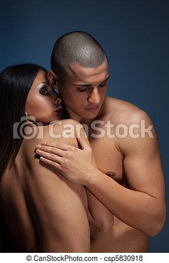 Naked couple - csp5830918