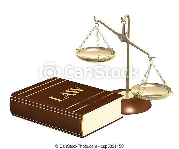 Gold scales and code of laws - csp5831150