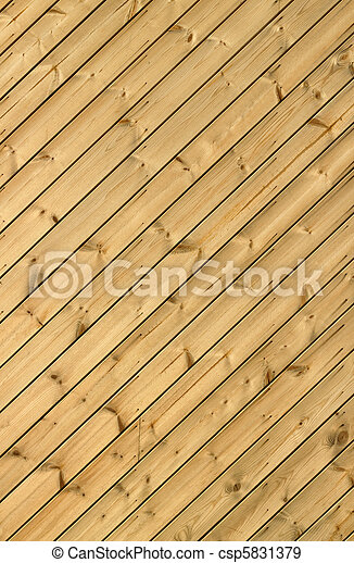 Wooden decking planks close up. - csp5831379