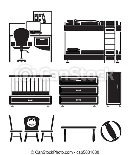 nursery and children room objects - csp5831630