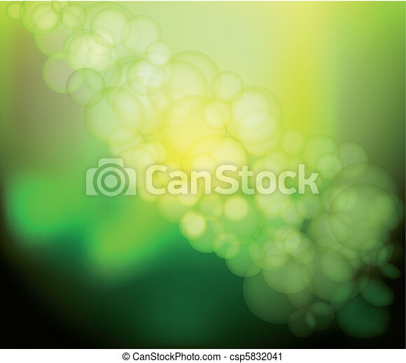 Vector Blur green Lights - csp5832041