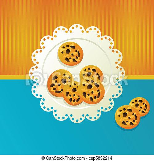 Cookies on a white napkin. - csp5832214