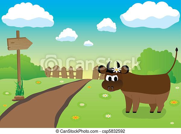 Farmers Bull - csp5832592