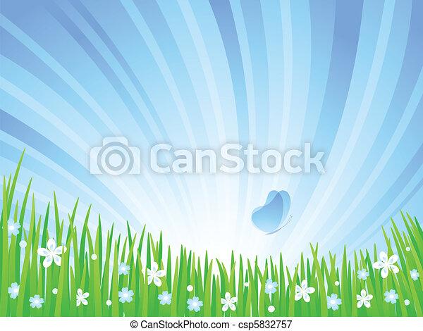 Spring Meadow. - csp5832757