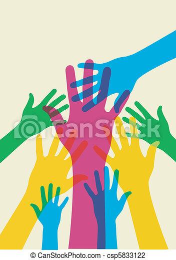 manos auxiliares - csp5833122