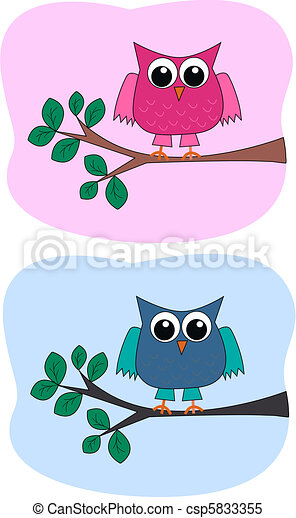 two owls - csp5833355