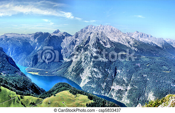 Watzmann-massif with Koenigssee - csp5833437
