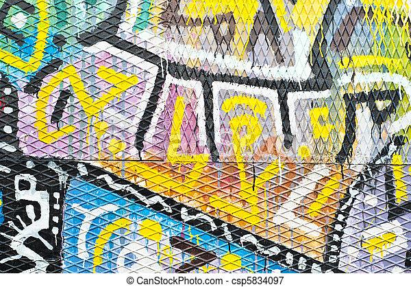 Colorful Urban Art - csp5834097