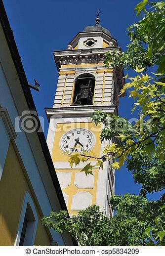 Turmuhr clipart  Stockfotografien von turm, uhr - Yellow, turmuhr, turm, gegen ...