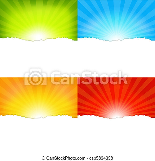 Sunburst Backgrounds - csp5834338