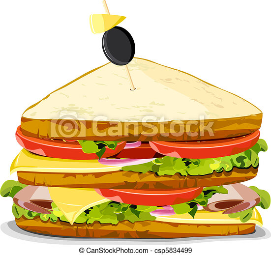 Yummy Sandwich - csp5834499
