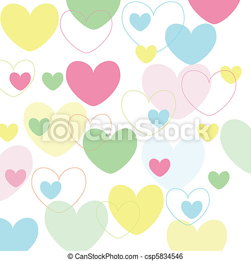 hearts valentine\'s icons, wallpaper - csp5834546