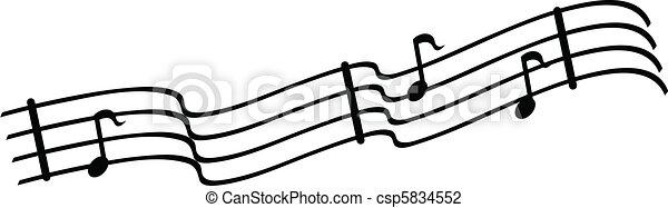 Musical Notes - csp5834552