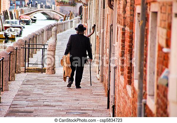 Scene from Venice in Italy - csp5834723